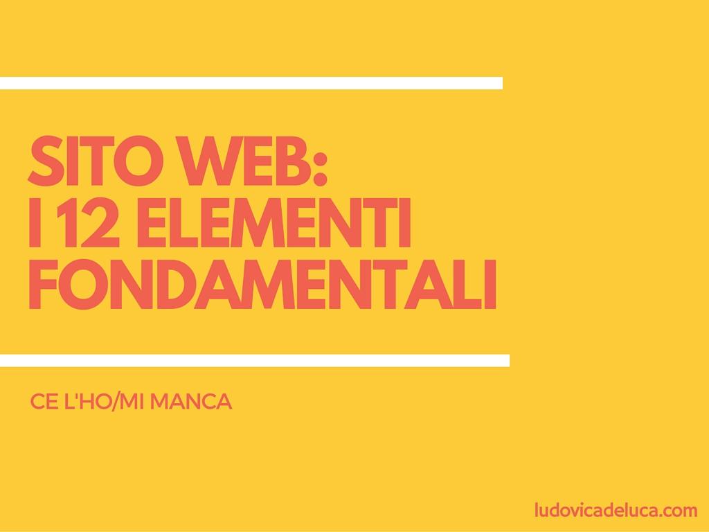 sito web i 12 elementi fondamentali