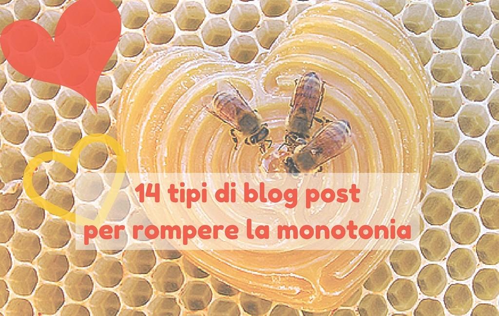 14 tipi di blog post