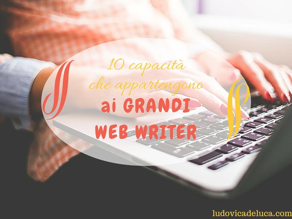 10 capacità dei grandi Web Writer