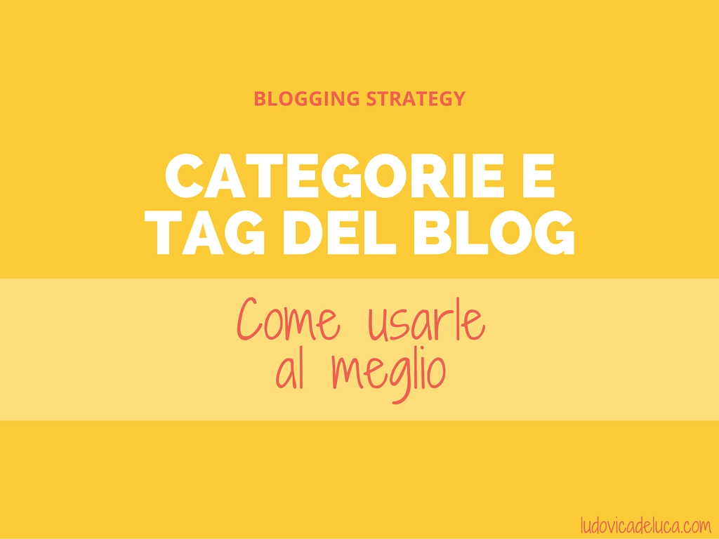 categorie e tag del blog