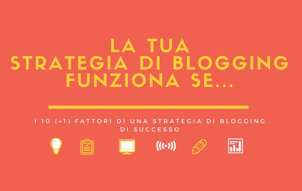 Strategia di blogging di successo