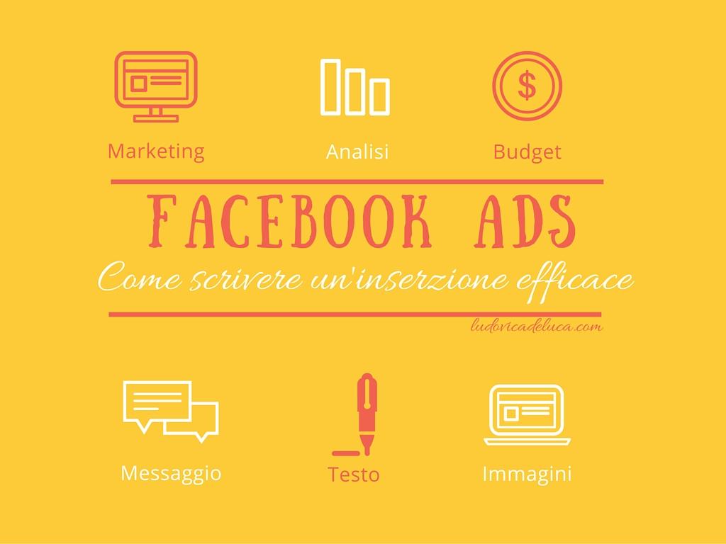 Facebook ADS: come scrivere inserzione efficace