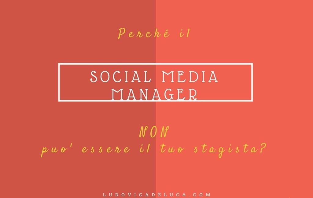 social media manager professionista